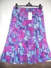 LOVELY LADIES BNWT CLASSIC FOR M&S COLLECTION PURPLE MIX SKIRT UK10 /EUR 38.