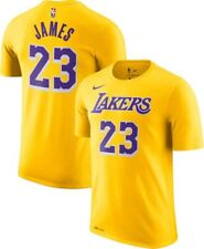 NIKE LEBRON JAMES # 23 Los Angeles Lakers T-Shirt 2019 Edition Mens Size Small