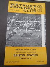 Watford V Bristol Rovers 1968/9