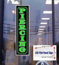 Piercing Light up window sign 48x12