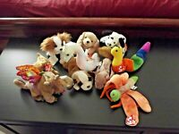Lot of 10 Beanie Babies All different with tags Rare? Retired? Errors?  All Good