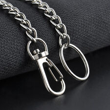 Biker Thick Silver Heavy Metal Extra Long Wallet Chunky Chains KeyChain Rock