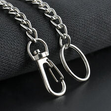 New Men Silver Casual Chunky Metal Extra Long Wallet Chains KeyChain Biker Jeans
