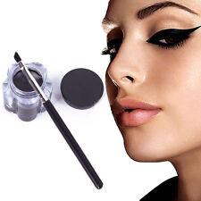 Pro New Black Waterproof Eyeliner Women Eye Liner Gel Makeup Cosmetic + Brush