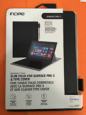 INCIPIO ROOSEVELT SLIM FOLIO FOR SURFACE PRO 3 & TYPE COVER  BLACK