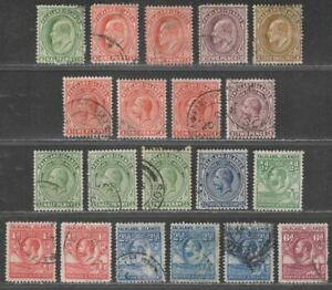 Falkland Islands 1904-29 KEVII-KGV Selection to 1sh Used with faults