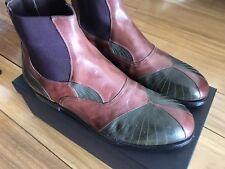 Bottega Veneta Russet Dark Sergeant River Calf Leather Boots 43 E US 10