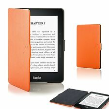 Forefront Cases® Shell Smart Case Cover Sleeve Wallet for Amazon Kindle Voyage Orange