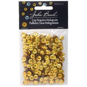 John Bead 6mm Round Gold Sequins  1600pk