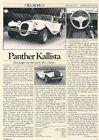 1986 Panther Kallista Original Car Review Print Article K23