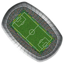 FOOTBALL PITCH PARTY 23CM PAPER SERVING PLATE X 8