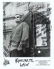 Koncrete Law - 8 X 10 - B&W Publicity Photo - Inscribed