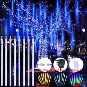 30CM 50CM Christmas LED Meteor Shower Window Lights Icicle Falling Outdoor UK