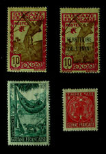 Vintage Stamps - 4 Mint Stamps From 1940's Guyane & De L'Inini - Africa France C