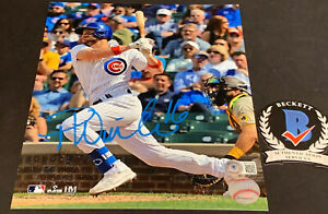 Patrick Wisdom Chicago Cubs Autographed Signed 8x10 Photo Beckett WITNESS COA