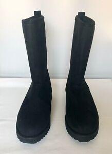 KRABOR Winter Snow Boots Women 6 Warm Faux Fur Lined Platform Black