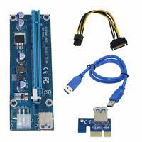 Pci-E Riser Pci E Express 1X To 16X Riser Card Usb 3.0 Pci-E Sata To 6Pin P N7K8