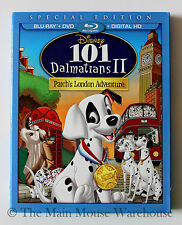 101 Dalmatians II 101 Dalmations 2 Patch Blu-ray DVD & Digital Copy w/ Slipcover