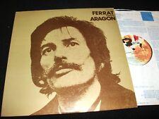 """JEAN FERRAT<>CHANTE ARAGON<>12"""" Lp Vinyl~Canada Pressing~BAARCLAY 80110"""