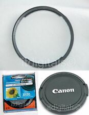 Adapter Metal Ring + UV + Lens Cap For Canon Powershot SX20IS SX20 IS Camera U&S