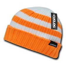 Orange White Ski Warm Winter Skull Knit Sailor Cuff Beanie Beanies Cap Hat Hats