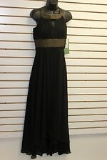 Nicole by Nicole Miller Black Dress with Gold Retail Price $180 Brand New