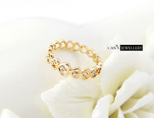18K Gold Plated Cute Hearts Ring with SWAROVSKI ELEMENTS CRYSTAL R546