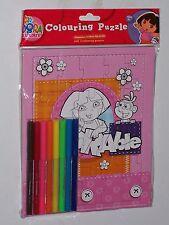 Dora the explorer coloration Puzzle-les crayons-feutres & coloration Puzzle Set