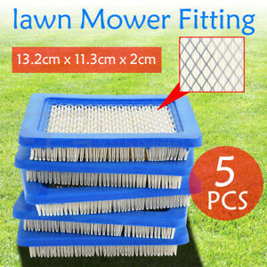 5pcs Air Filter Lawn Mower Fitting For Briggs & Stratton 491588 491588S 399959 Z