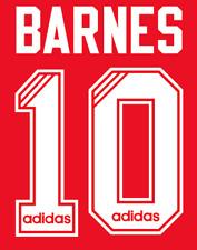 Liverpool Barnes Nameset Shirt Soccer Number Letter Heat Print Football Adidas