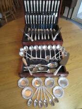 96P KIRK-SON REPOUSSE*STERLING SILVER*FLATWARE*SET*S-12+24 RARE SERVERS*EXCL****
