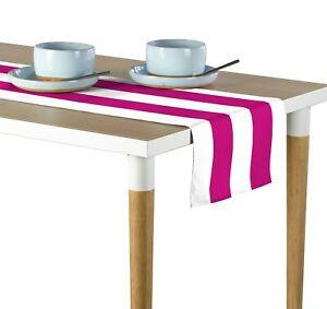 "Fuchsia & White Cabana Stripe Table Runners - 12""x72"" or 14""x108"""