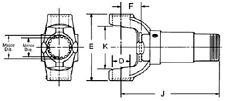 10-3-291 PTO Slip Yoke 26 Spline 1.156 Shaft 1000 Series U-Joint