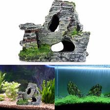 Artificial Mountain View Rockery Hiding Cave Aquarium Fish Tank Decor Ornament