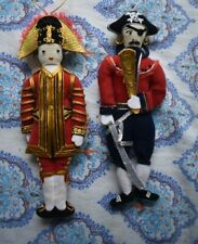 x 2 embroidered pirates decorations ( hanging)