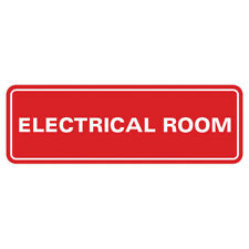 Electrical Room Door Wall Sign Red Small 2 X 6