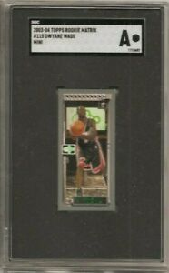 2003-04 Topps Matrix DWYANE WADE Rookie RC Mini Miami Heat #115 SGC A Authentic