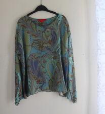The exquisite SHAMASK -Sz 1 S/M/L Rich Fantasy Paisley Silk Blouse Shirt Top