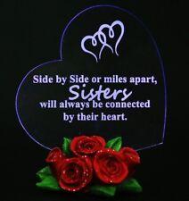 Sister Birthday Gift Heart Love Rose LED Light Souvenir Decor Present For My Sis