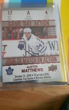 2017-18 Upper DeckTim Hortons Game Day Action #GDA-4 Auston Matthews