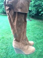 Toi Et Moi Slouch Platform Wedges High Heels Motorcycle Womens Boots Size 10 /