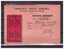 s23492) ESPERANTO ITALIA 1952/58 Card Member
