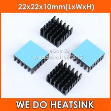 4pcs 22x22x10mm Aluminum Heatsink With Blue Thermal Adhesive Heat Transfer Pad