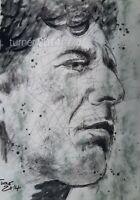 LEONARD COHEN  PORTRAIT Bild von Turner 2014 Original Ink Zeichnung freihand
