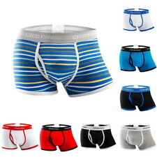 Mens' Model Boxer Briefs Underwear Fashion Boxers Shorts Patchwork Underwear UK
