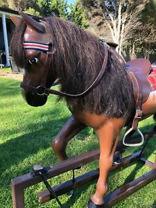 HANDCRAFTED ROCKING HORSE - IMMACULATE CONDITION - FIBREGLASS