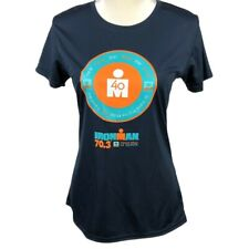 2018 Indian Wells Ironman 70.3 Women's Finisher Shirt Small Navy Teal Orange