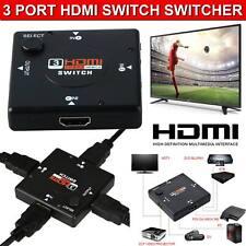 HDMI Switch Splitter Hub 3 Port AUTO Switcher Selector Box HDTV 2160P V1.4 USA