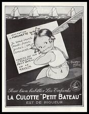Publicité sous- Vetement PETIT  BATEAU  Marinette ad 1931 - 2i