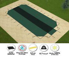 GLI HyPerLite Solid Swimming Pool Safety Cover w/ 4' Radius Corners & 4 x 8 CES